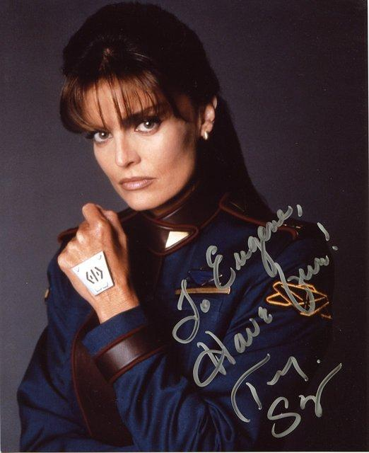Autographed by Tracy Scoggins