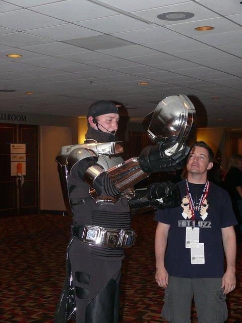 Under the Cylon costume