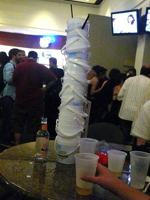 Tower of drink pails