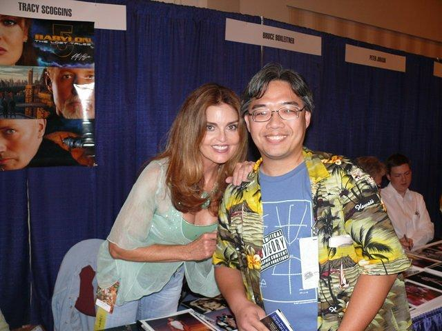 Me and Tracy Scoggins