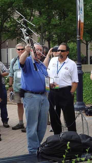 Satellite QSO demonstration