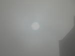 Fog shrouded sun