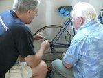 Dave sharing some bike maintenance tips