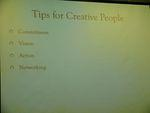 Tips for creative people