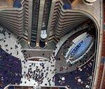 Looking down from the 47th floor of the Marriott