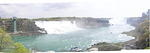 Panorama shot of the falls.  Canadian Horseshoe falls is off in the background.