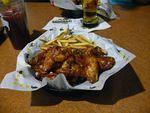 Wings and fries at Buffalo Wild Wing